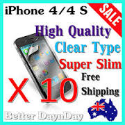 10x iPhone 4/4S Slim Screen Guards - Free Shipping