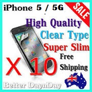 10x iPhone 5/5G Slim Screen Guards - Free Shipping