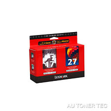 Lexmark 17 27 Genuine Black & Colour Genuine Ink Combo Pack