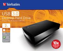"""2TB Verbatim 3.5"""" USB3.0 External Hard Disk Drive"""