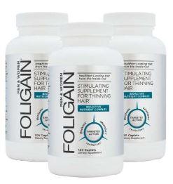 3x Foligain AntiGray Hair Formula 180 Capsules