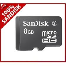 8GB SanDisk Micro SDHC High Capacity Card