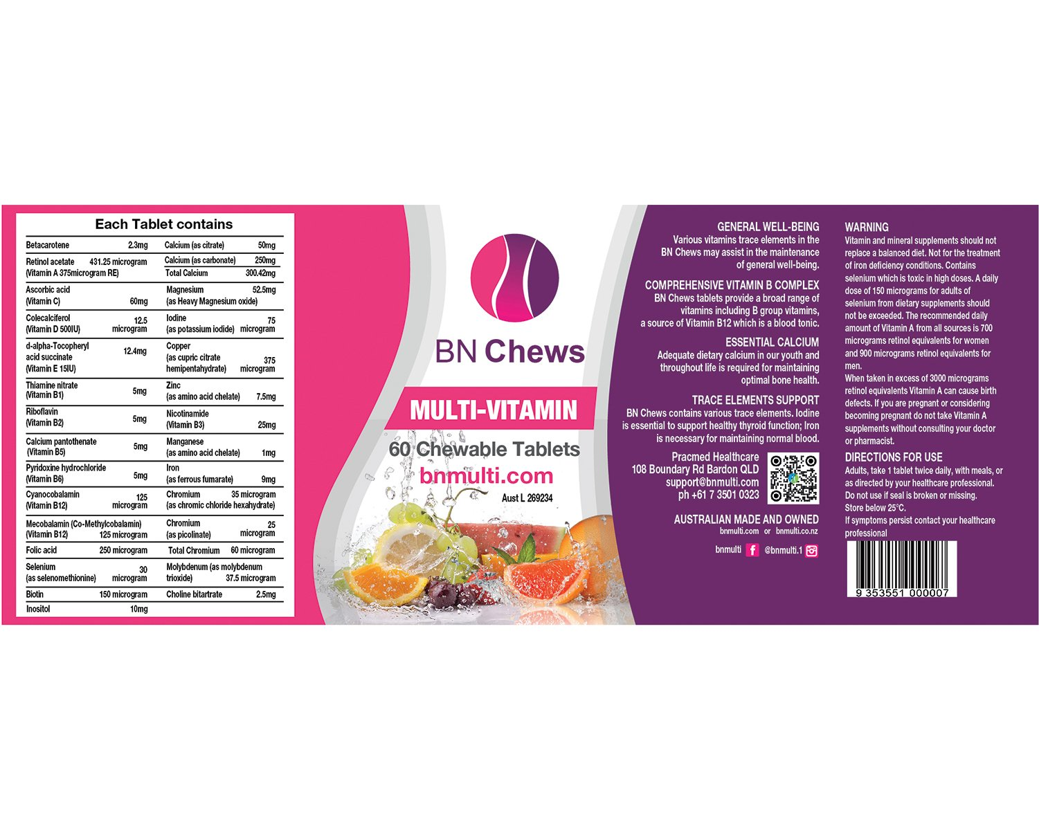 BN Multi Vitamins Chews 60 tablets
