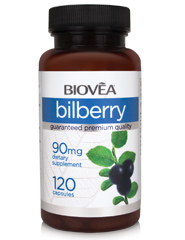 BILBERRY 90mg 120 Capsules