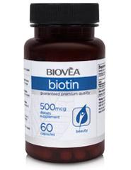 BIOTIN 500mcg 60 Capsules