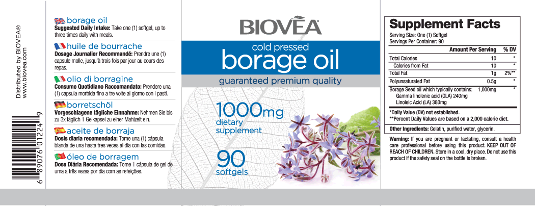 BORAGE OIL 1000mg 90 Softgels