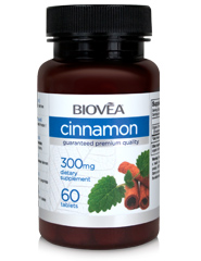 CINNAMON (Organic) 300mg 60 Tablets