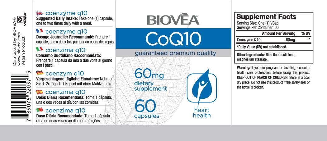 COENZYME Q10 (CoQ10) 60mg 60 Capsules