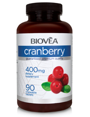 CRANBERRY 400mg 90 Chewable Tablets