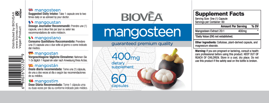 MANGOSTEEN EXTRACT 400mg 60 Capsules
