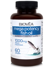 MEGA POTENCY FISH OIL 360mg EPA / 240mg DHA 60 Softgels