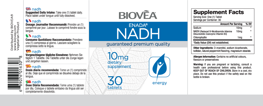 NADH 10mg 30 Tablets