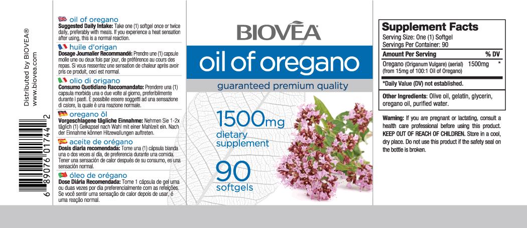OIL OF OREGANO 90 Softgels