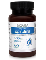SPIRULINA (Organic) 500mg 60 Tablets