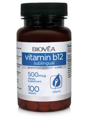VITAMIN B12 500mcg 100 Sublingual Tablets