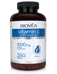 VITAMIN C with ROSEHIPS 1000mg 250 Tablets