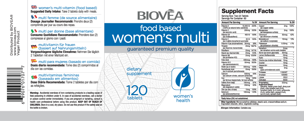WOMEN'S MULTI (FOOD BASED) 120 Tablets