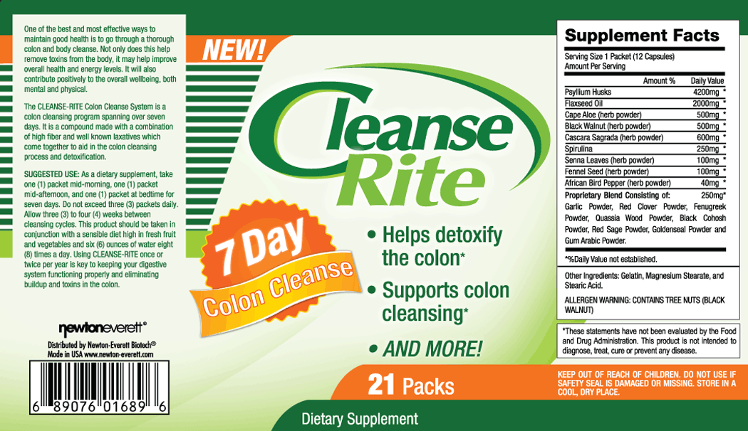 CLEANSE-RITE 21 Packs