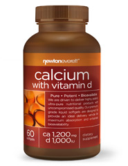 CALCIUM 1200mg With Vitamin D 200 IU 60 Softgels
