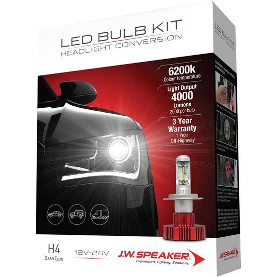 JW Speaker Headlight Kit Conversion LED H4 12-24v 6200K