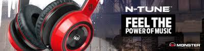 Monster NCredible NTune On-Ear Headphones - Red