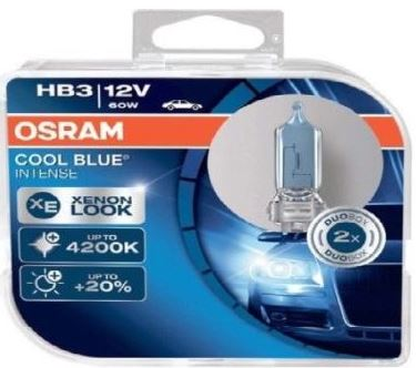 Osram Headlight Globe - 12V, HB3, 60W, Cool Blue Intense