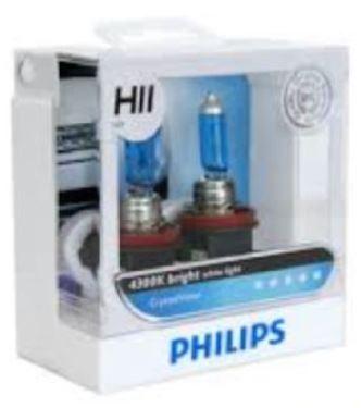 Philips White Vision H11 4300K headlight 12V 55W bulb light