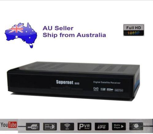 SUPERNET 800 Full HD Satellite Receiver RF-Modulator/WIFI/PVR/USB/EPG/DVB-S2/MPE