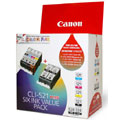 Canon 521 BK/C/Y/M +  2x 520BK Genuine Value Pack