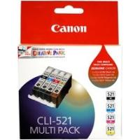 Canon 521 Genuine Multi Grey Pack GY/C/Y/M