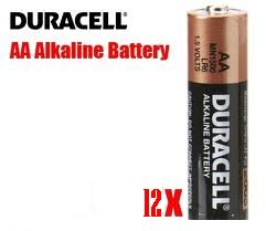 Duracell AA Batteries 12 Pack CopperTop