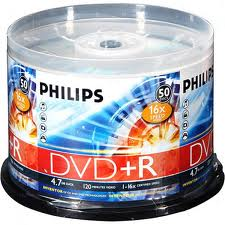 Philips DVD+R 16X Speed 50 Pack White Printable