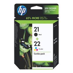 HP 21 22 Black & Colour Genuine Ink Cartridges