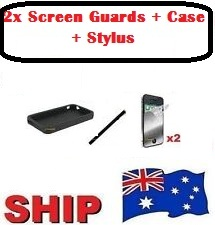 Bundle Pack for iPhone 5/5G - Case+Stylus+2x Screen Guards