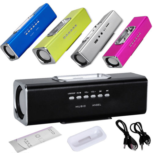 Music Angel Portable Speaker For iPhone Ipod Phone MP3 MP4 Sound Box Mini Dock