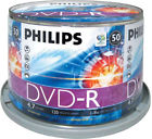 Philips DVD-R 16x Speed White Print 50 Pack Discs