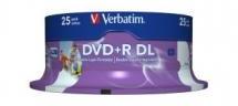 Verbatim DVD+R Double Layer 8.5GB 25Pk White Print